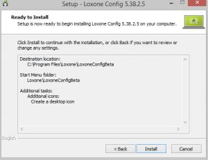 Loxone Config Installation