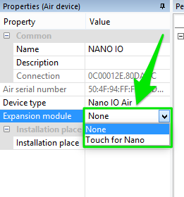 Loxone Nano IO Device Properties