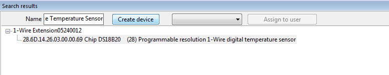 Searching 1 Wire Device Loxone Config'