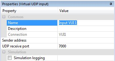 Example Screen Shot On Changing Properties UDP On Loxone Config