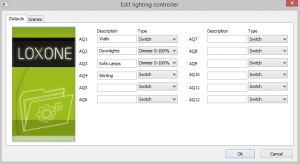 Lighting Controller Outputs Tab