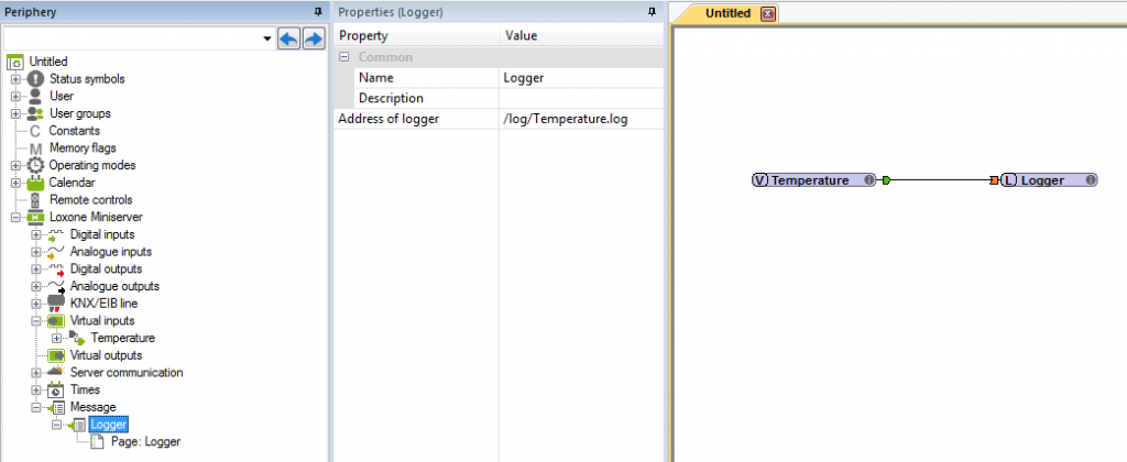 Example Screenshot Of Loxone Config Logger Messages Mailer Properties