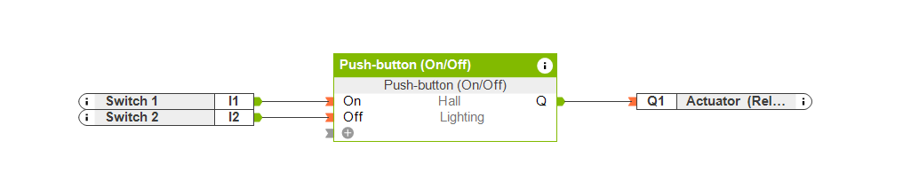 Function Block Push Button On Off
