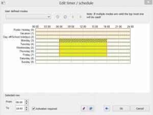 Timer Schedule Activation