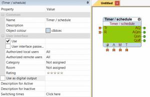 Timer Schedule Properties