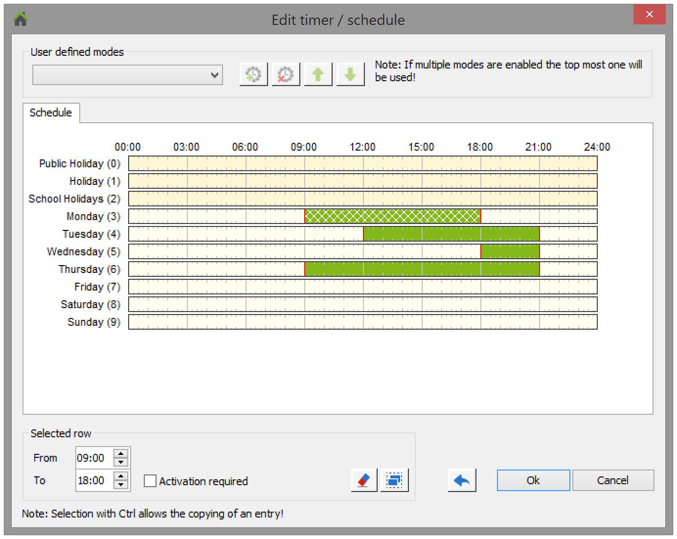 Doentation Loxone Config Schedule