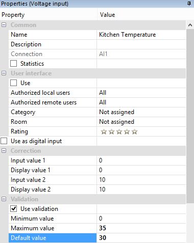 Screenshot Example Validation Function Block Properties Loxone Config
