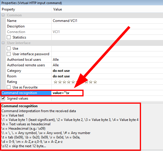 Loxone Config Virtual HTTP Input Command Value 2