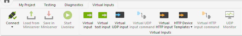 Adding A Virtual Input Command UDP Monitor Loxone Config