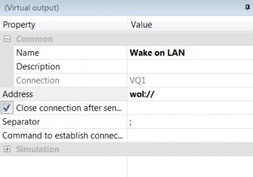 Loxone Config Wake On Lan UDP