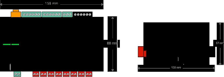 Diagram Loxone Multi Extension Air Dimensions