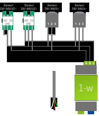 Wiring A 1-Wire Temperature Sensors Loxone Config