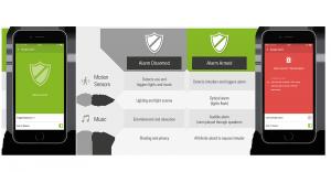 Loxone Burglar Alarm App Interface