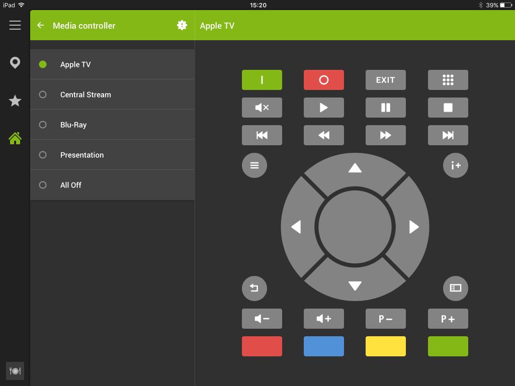 Screenshot Of Loxone Tablet App Media Controller