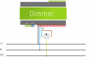 Example On How To Wire Lights To Extension Dimmer Loxone Miniserver