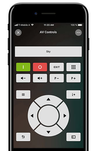 Control all your AV devices with the Loxone App.