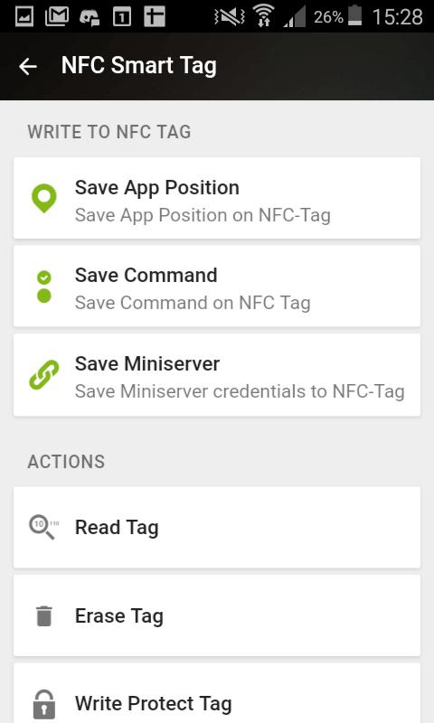 Documentation - Loxone App - NFC tags