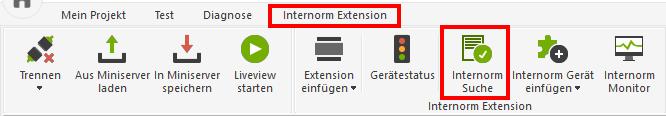 Start of Loxone Internorm Search