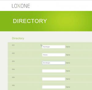 Intercom XL Phonebook