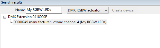 Loxone Config DMX Device Search Save