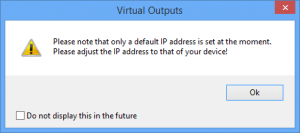 Virtual Outputs Popout