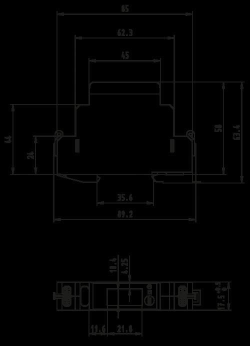 Single Phase Dimensions Modbus