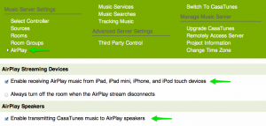 Casatunes Music Server UI Airplay
