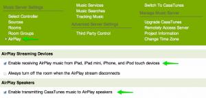 Casatunes Music Server UI Airplay