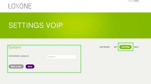 Loxone Intercom Change Password Audio SIP Module