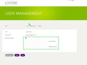 Loxone Intercom Change Password Video Module