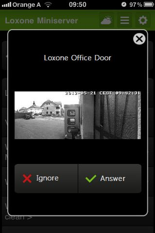 Mobile Application Mobotix Loxone