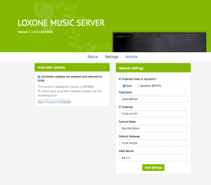 Music Server Web Interface