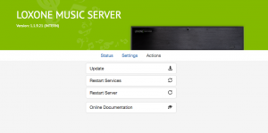 Music Server Web Interface Actions