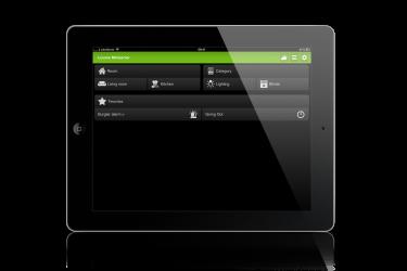 User Interface screenshot of Loxone demo case