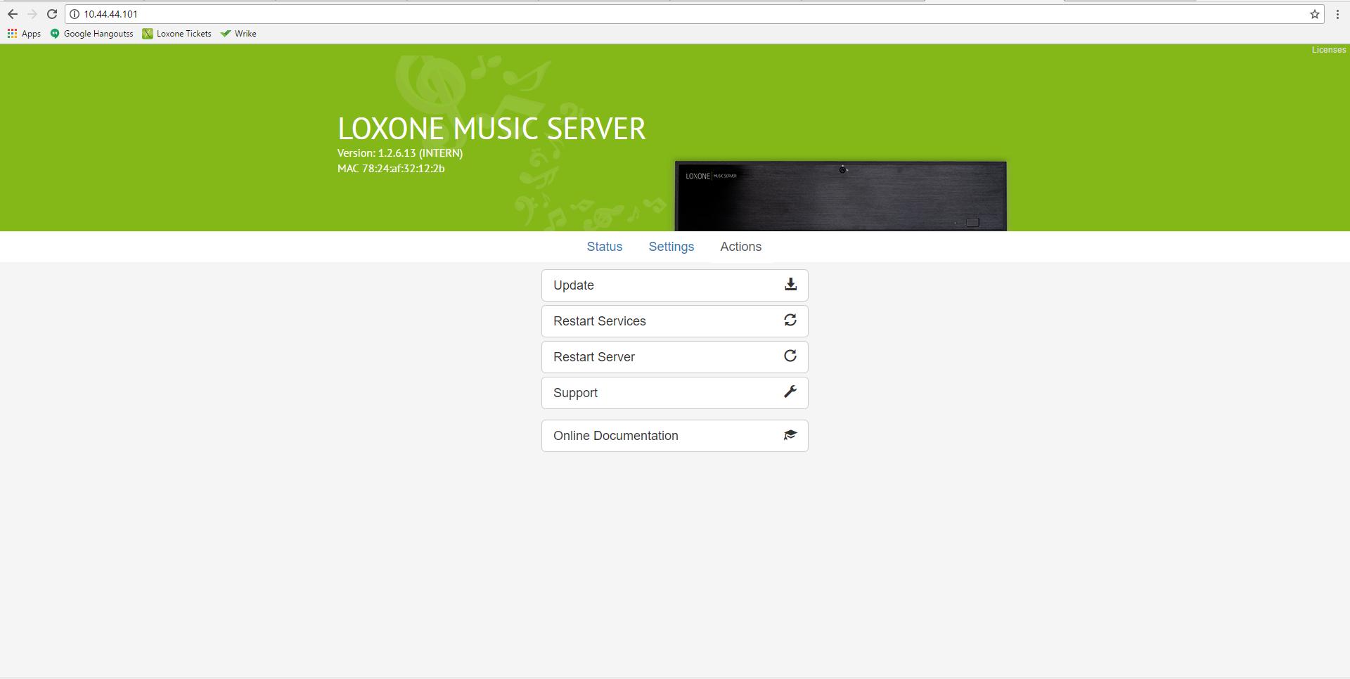 Documentation - Loxone Music Server