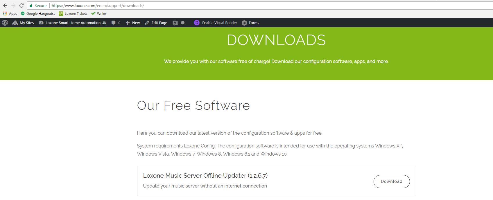 Offline updater downloads - Loxone Smart Home Automation UK