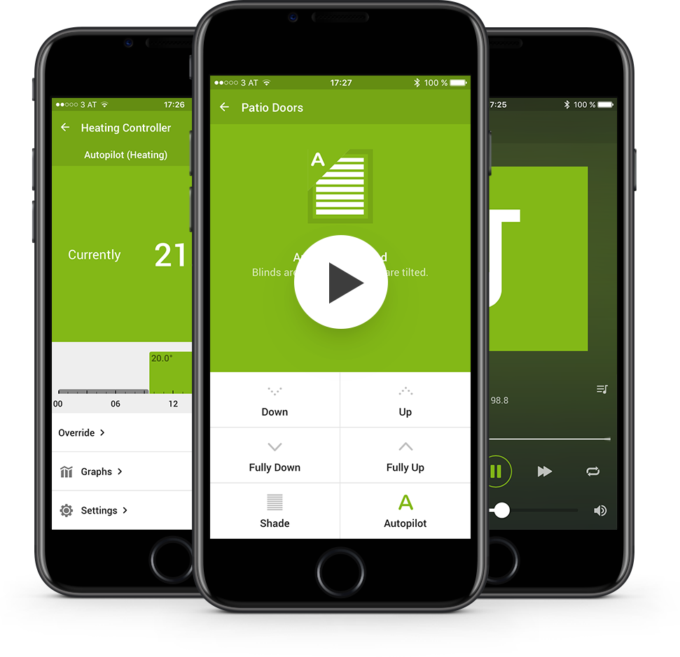 the loxone smart home app app home control loxone. Black Bedroom Furniture Sets. Home Design Ideas