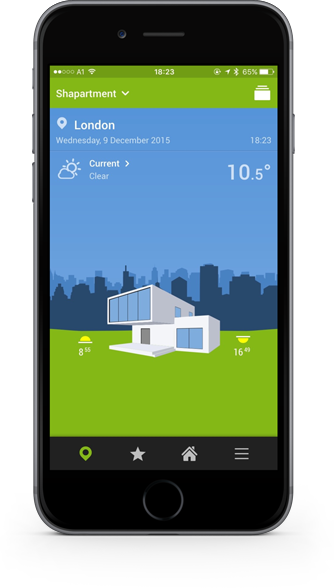 Smart Home App - Home Screen
