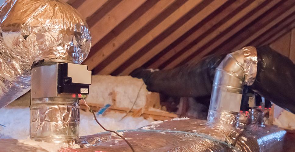 Damper control in our attic