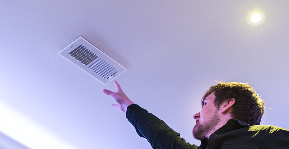 Trying to reach the ventilation grill