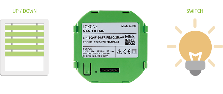 Integration of Nano IO Air into the Loxone Smart Home