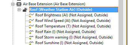 Weather Station Air Config OPtions