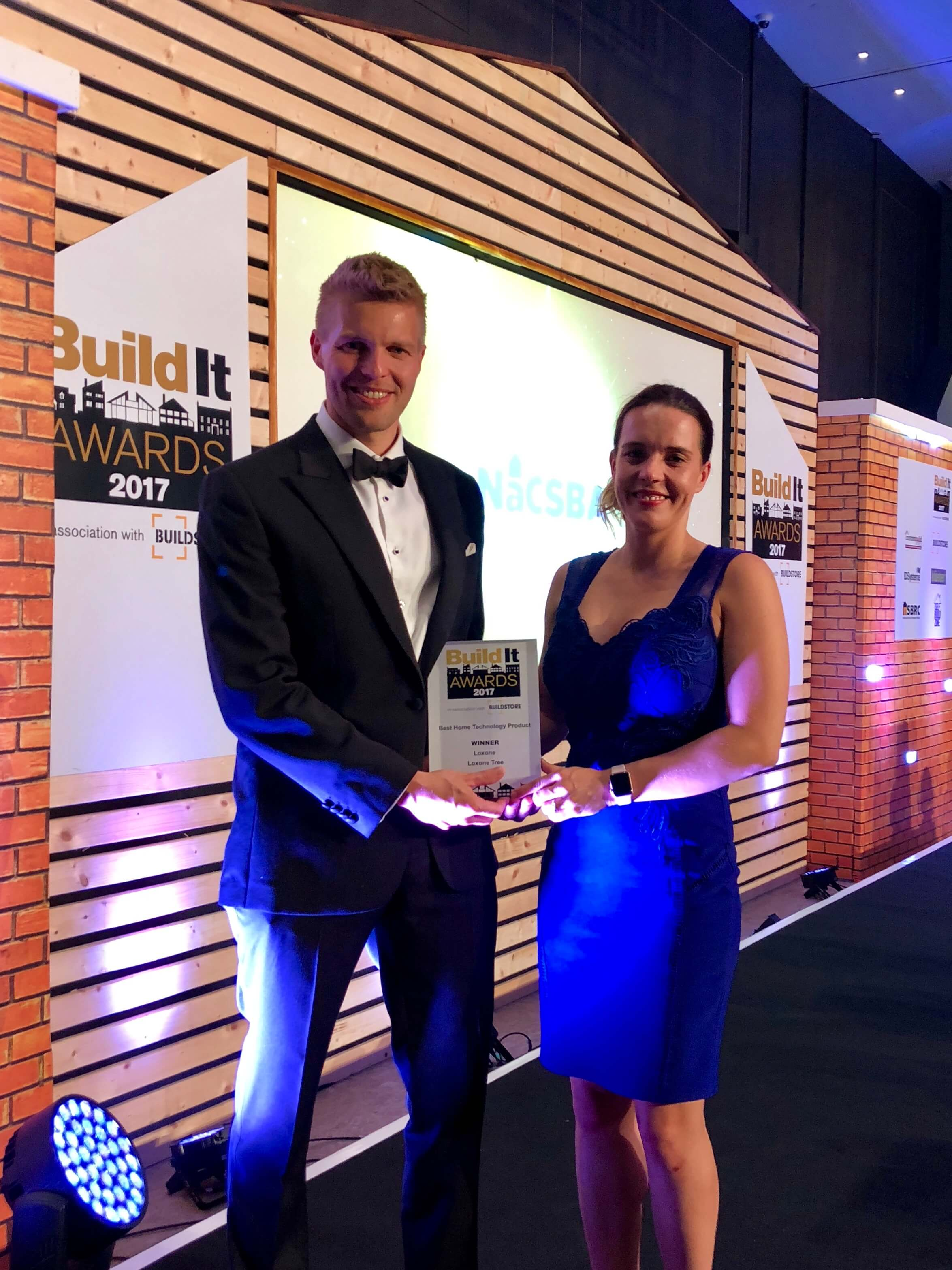 Philipp Schuster, Loxone UK MD accepts award