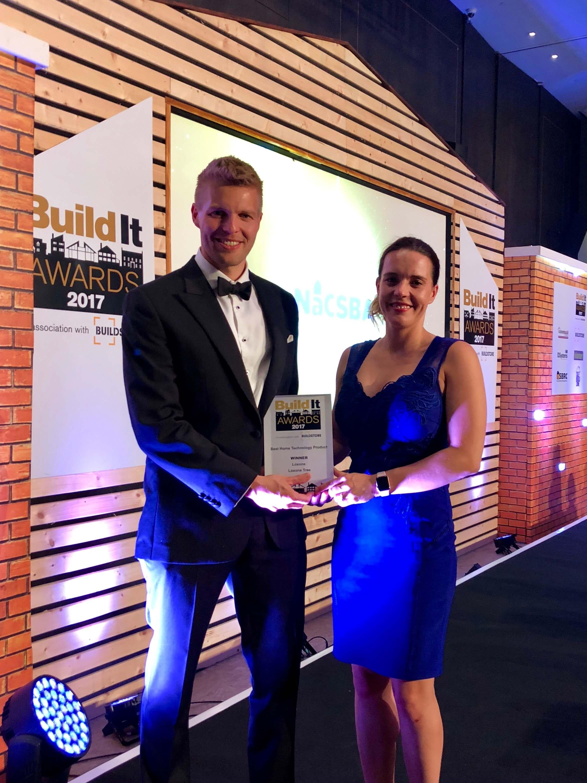 Philipp Schuster, Loxone UK MD accepts award