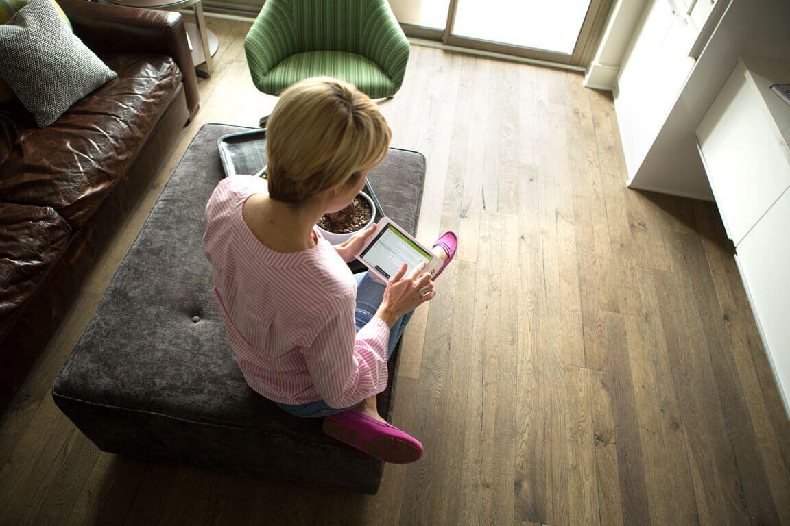 Beth Chappo using the Loxone Smart Home App