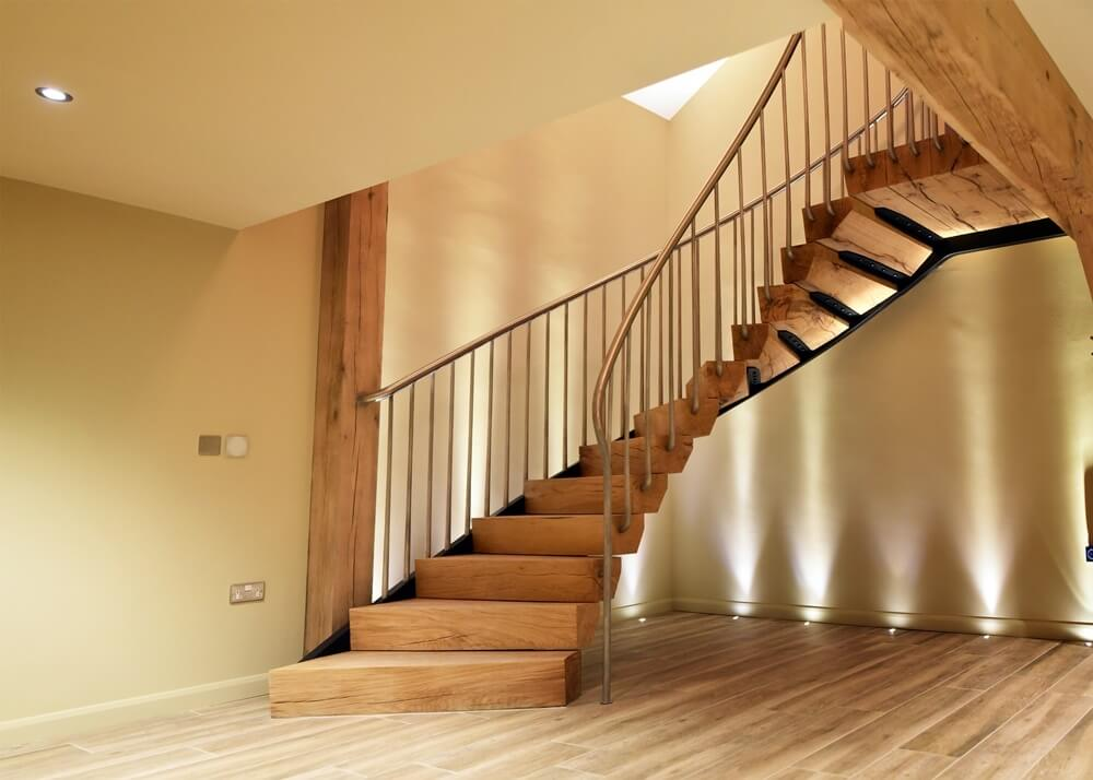 Staircase at Orchard Lodge Loxone Smart Home