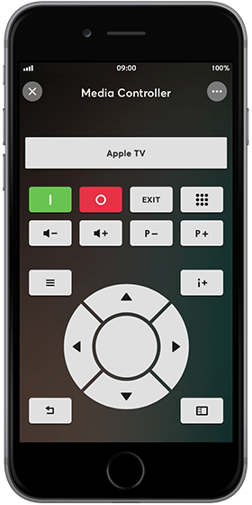 iPhone with Loxone Media Controller