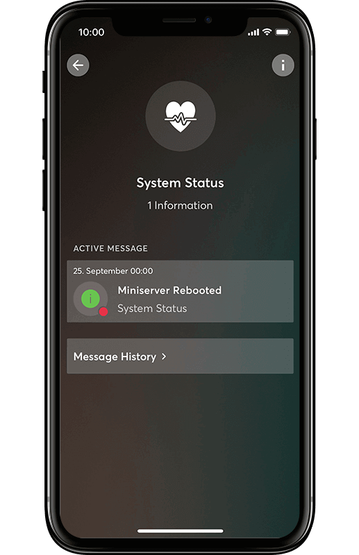 Smart Home App - Systemstatus