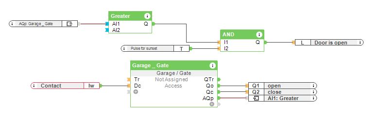 Garage Door Notifications - Loxone Config Screenshot