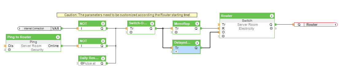 Automatic Router Reset - Loxone Config Screenshot